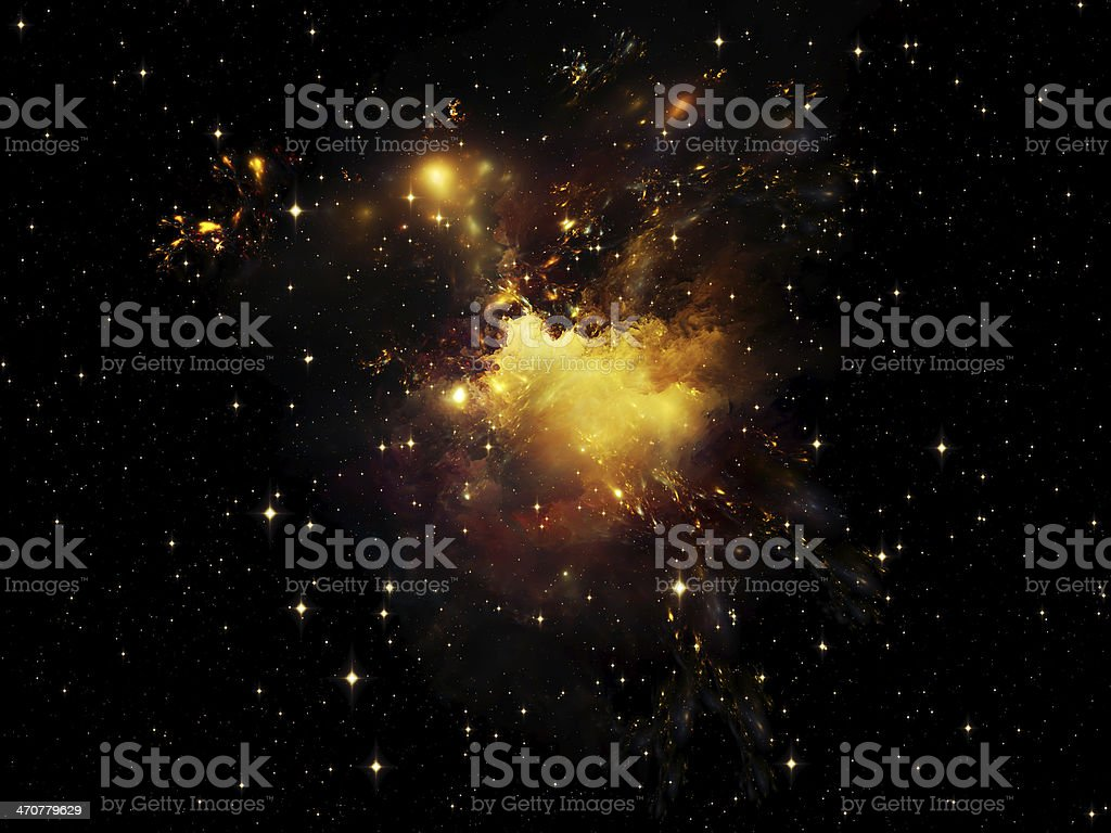 Inner Life of Nebula royalty-free stock photo