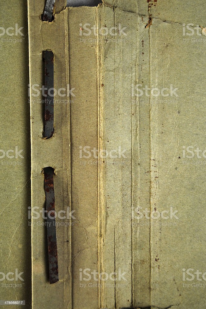 XXL - Inner part of an old file cover royalty-free stock photo