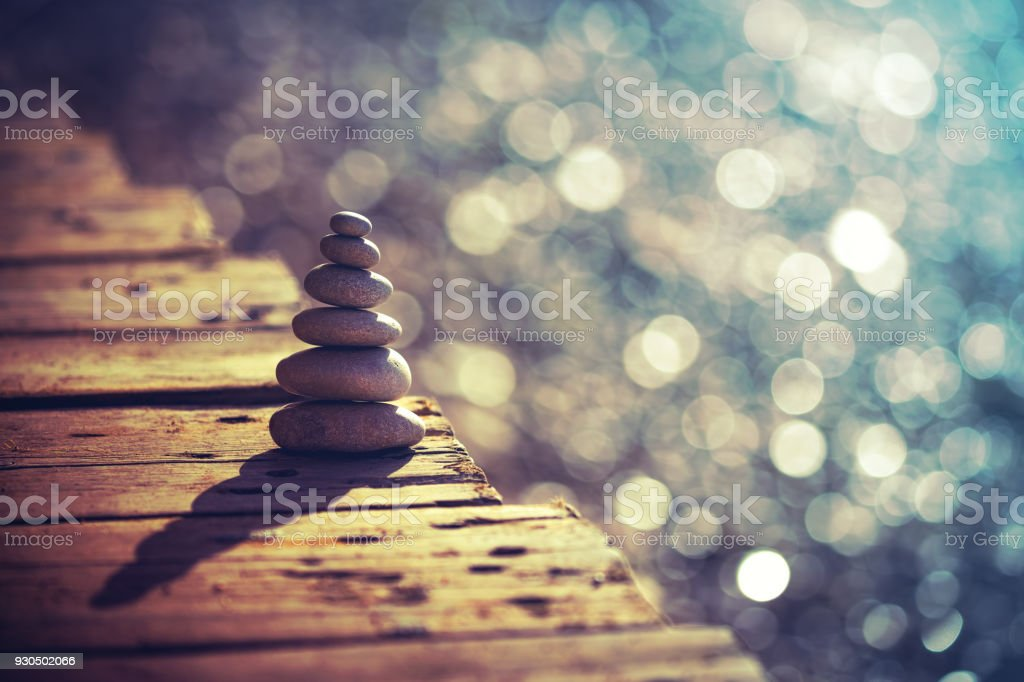 Inner peace and balance stock photo