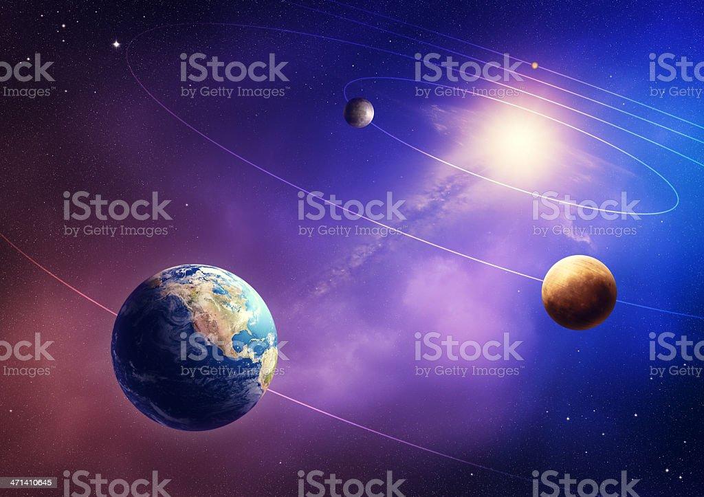 Inner solar system planets stock photo