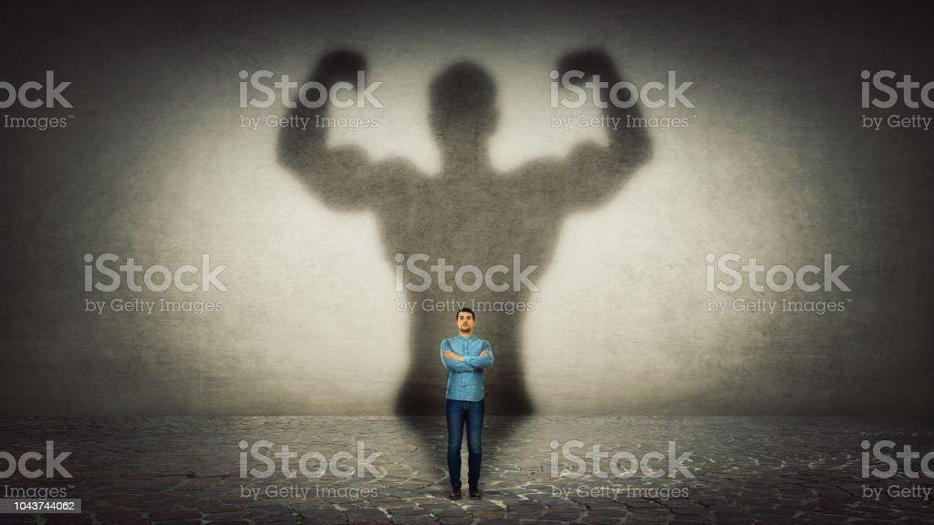 Inner strength stock photo