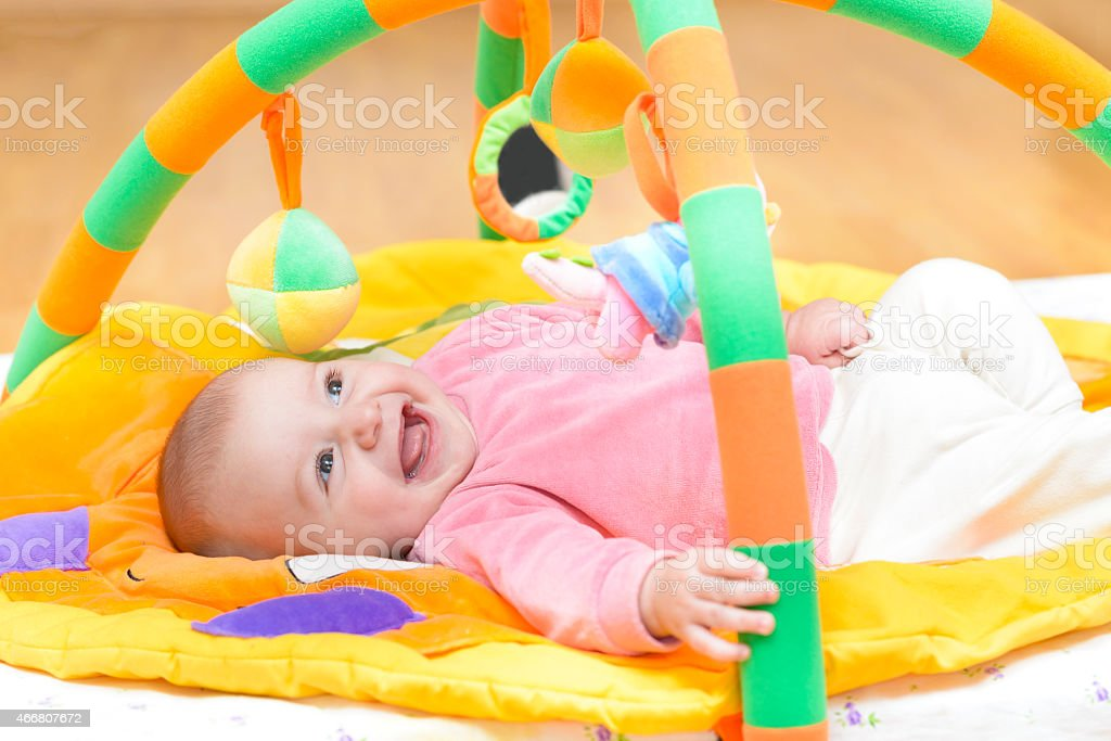 Innocent Baby Smiling stock photo