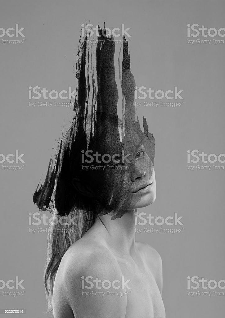 Innocent beauty with a dark twist - foto de stock