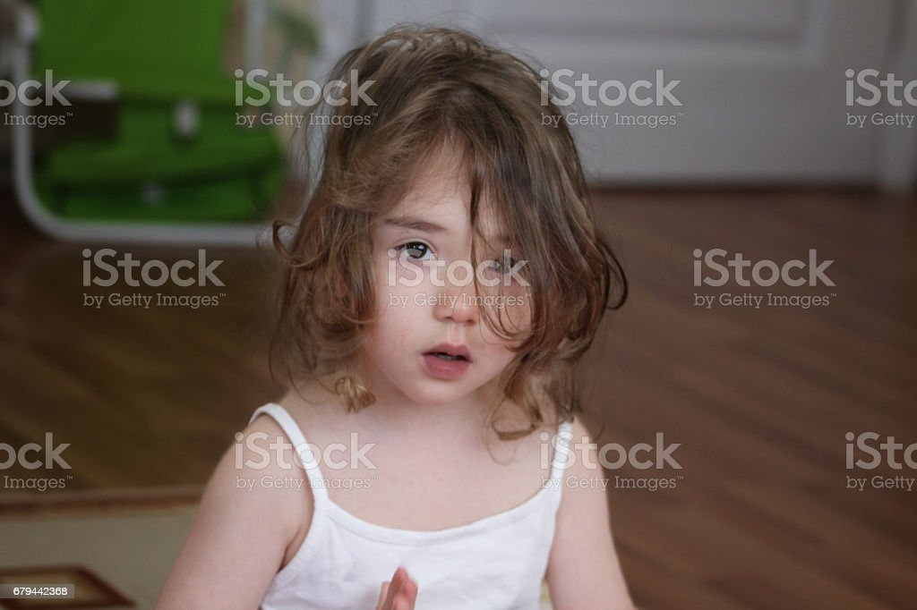 innocent child looking royalty-free stock photo
