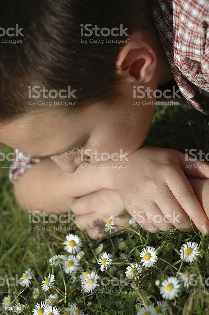 Innocent childhood royalty-free stock photo
