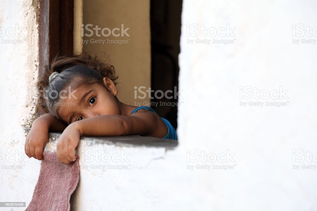 Innocent look stock photo