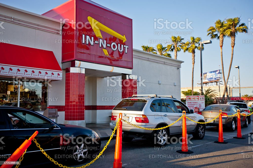 In-n-out Burger, fast food restaurant at Los Angeles Airport stock photo