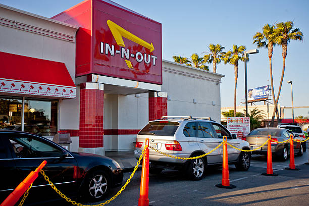 Restaurants In-n-out Burger probieren sollten, fast food Restaurants am Los Angeles Airport – Foto