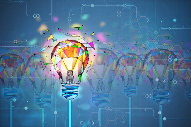 Innovation and creativity concept stock photo