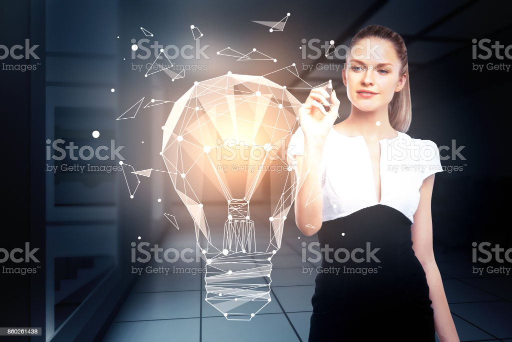 Innovation and imagination concept stock photo