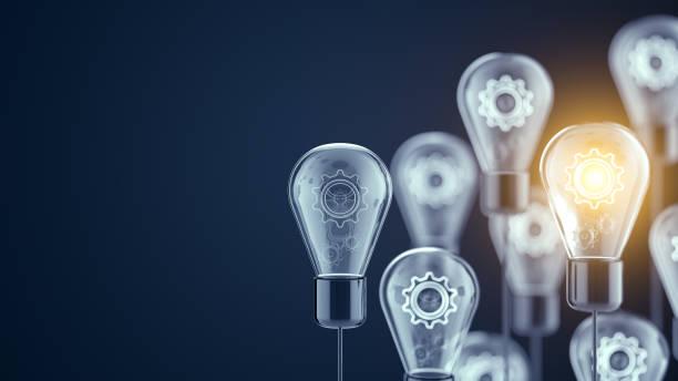 yenilik ve yeni fikirler ampul kavramı - expert stok fotoğraflar ve resimler