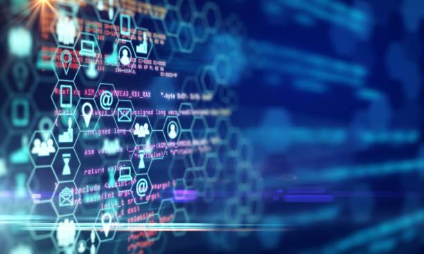 koncepcja innowacji i nauki - sieć komputerowa zdjęcia i obrazy z banku zdjęć