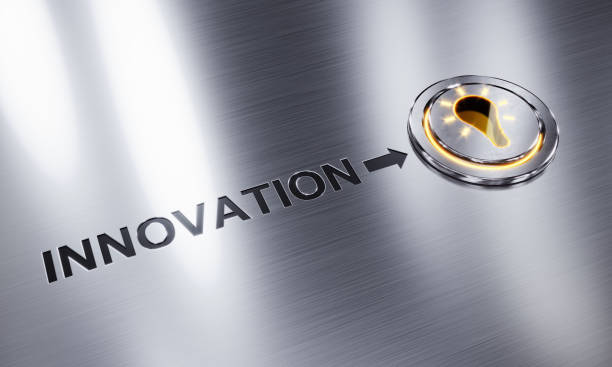Innovation Button stock photo