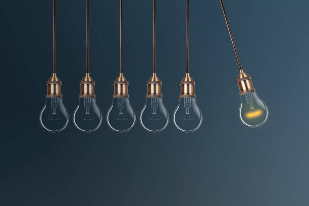 Innovation Concepts Light Bulb Continuous Motion stock photo