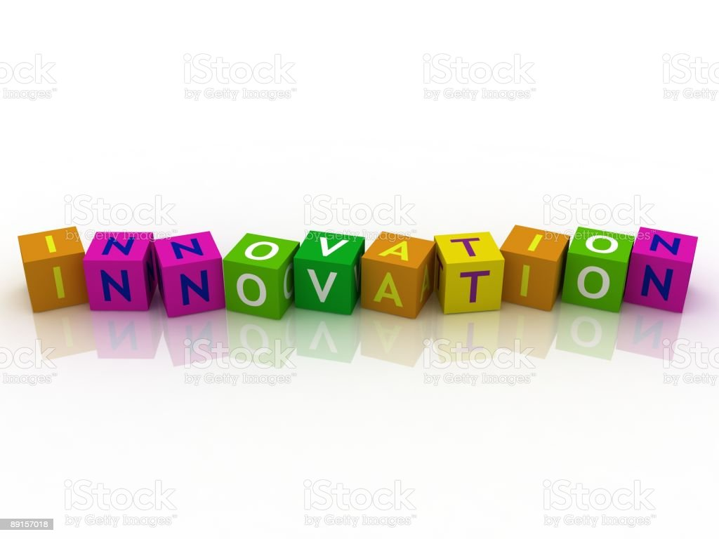 Innovation Crossword royalty-free stock photo