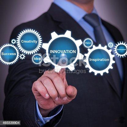 istock Innovation Gear Solution Concept 493339904