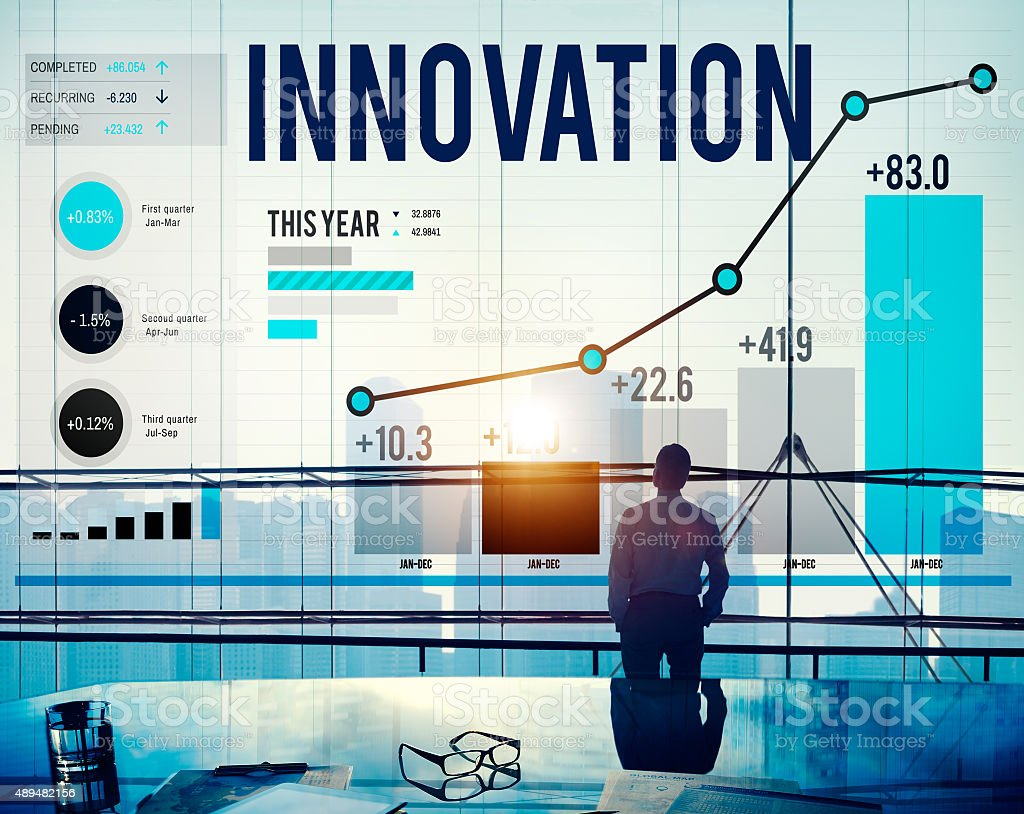 Innovation Innovate Inspiration Invention Imagination Concept stock photo