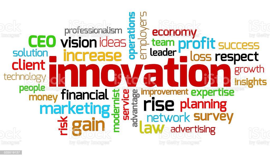Innovation keywords stock photo