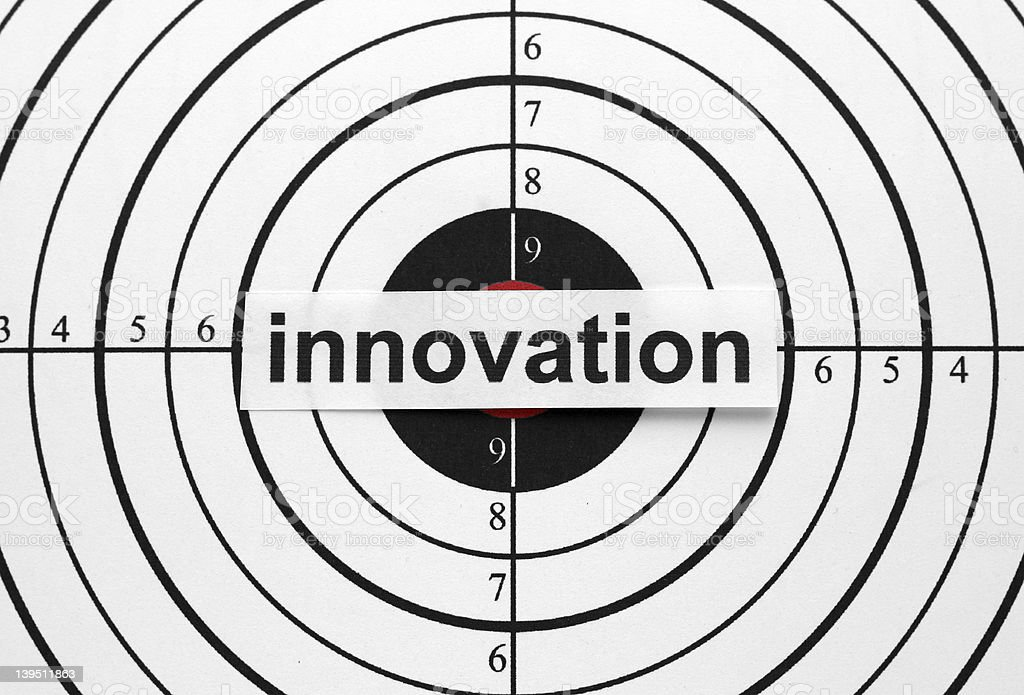 Innovation target royalty-free stock photo