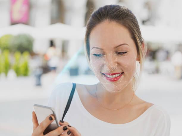 Innovationen und Technologie biometrische Verifikation und Gesichtserkennung – Foto