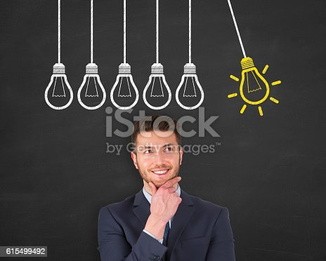 645716366 istock photo Innovative idea concept on blackboard background 615499492