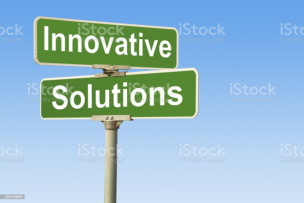 Innovative Solutions Street Intersection Sign royalty-free stock photo