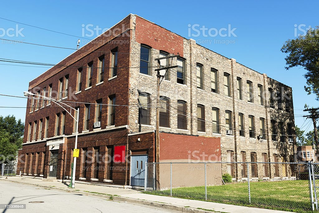 Innovtions High School, Fuller Park, Chicago royalty-free stock photo