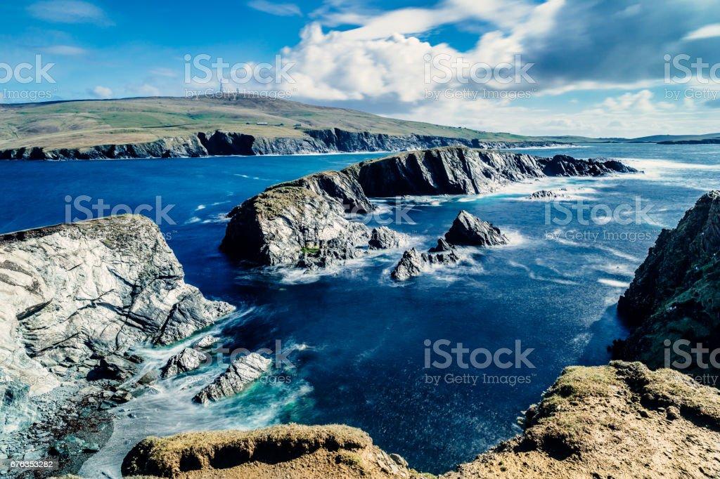 Inns Holm, St Ninian's Isle, Shetland Islands, Scotland stock photo