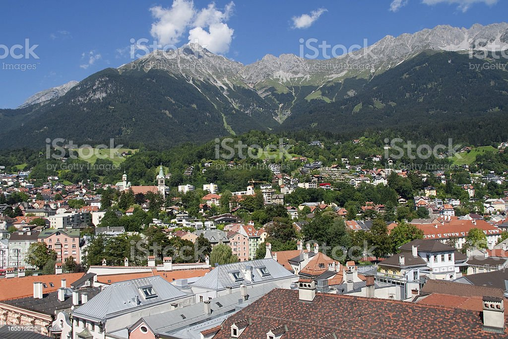 Innsbruck and the Nordkette royalty-free stock photo
