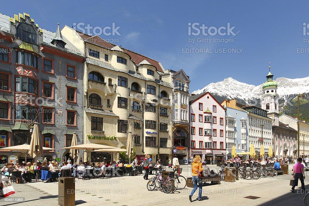 Innsbruck, Austria, Central Promenade Street stock photo