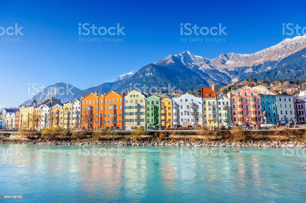 Innsbruck cityscape, Austria stock photo