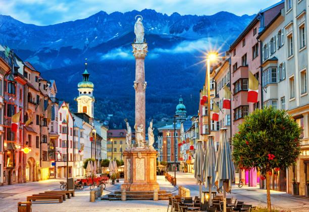 Innsbruck Old town, Tyrol, Austria stock photo