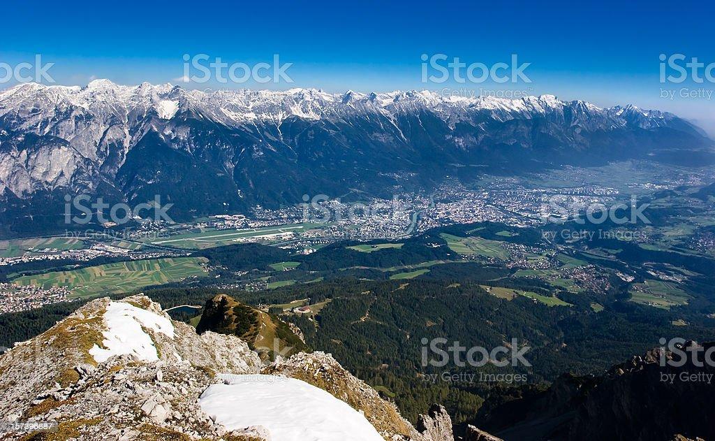 Innsbruck Panorama royalty-free stock photo