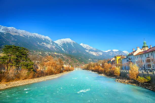 Innsbruck river stock photo