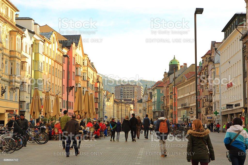 Innsbruck Town Square stock photo
