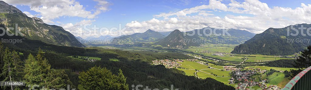 Inntal in Österreich View into Inn Valley at Austria royalty-free stock photo