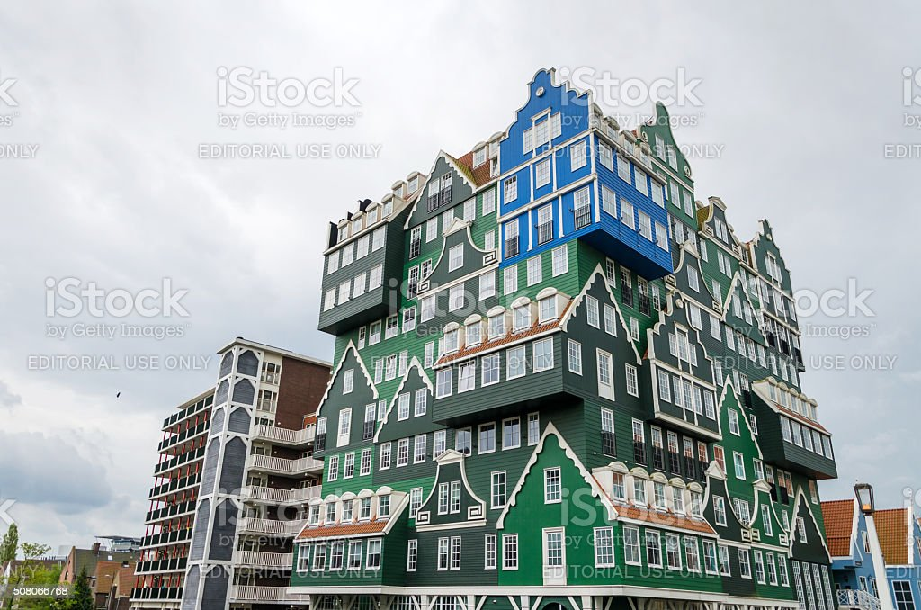 Inntel Hotels landmark in Zaandam, Netherlands. stock photo