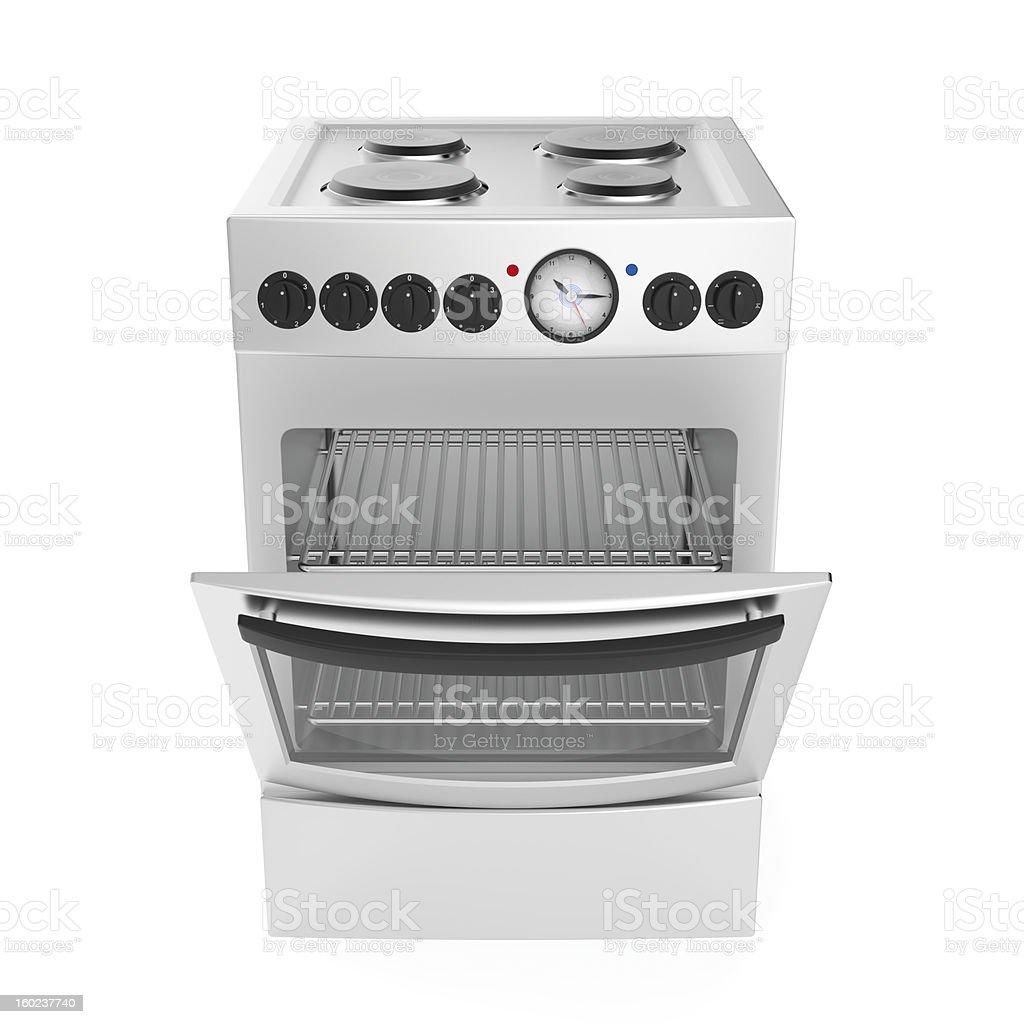 Inox electric cooker stock photo