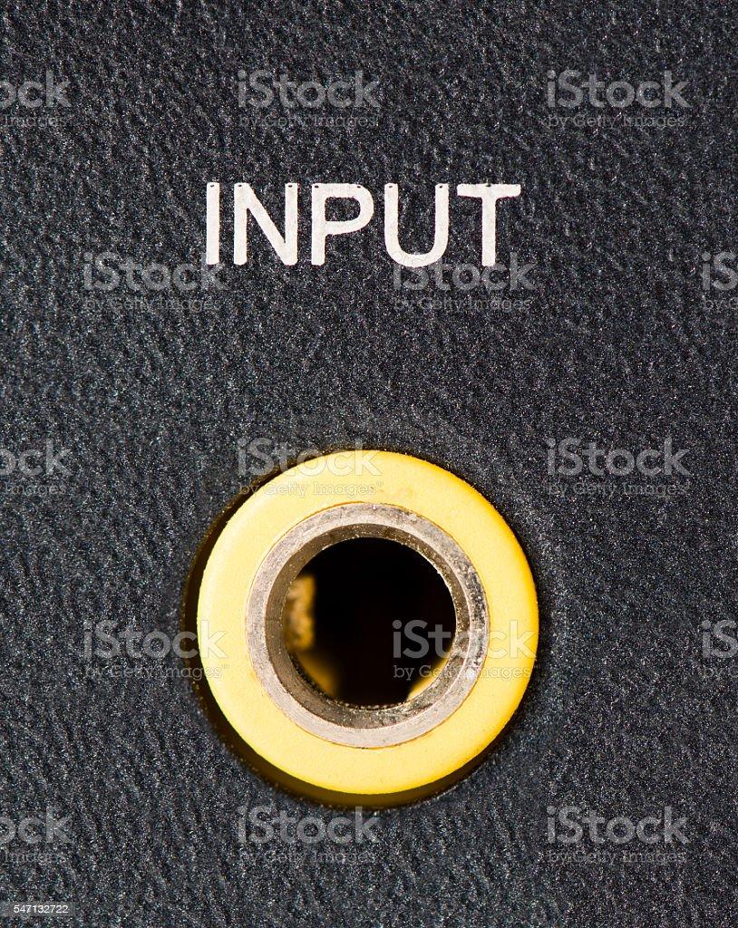 Input Jack stock photo