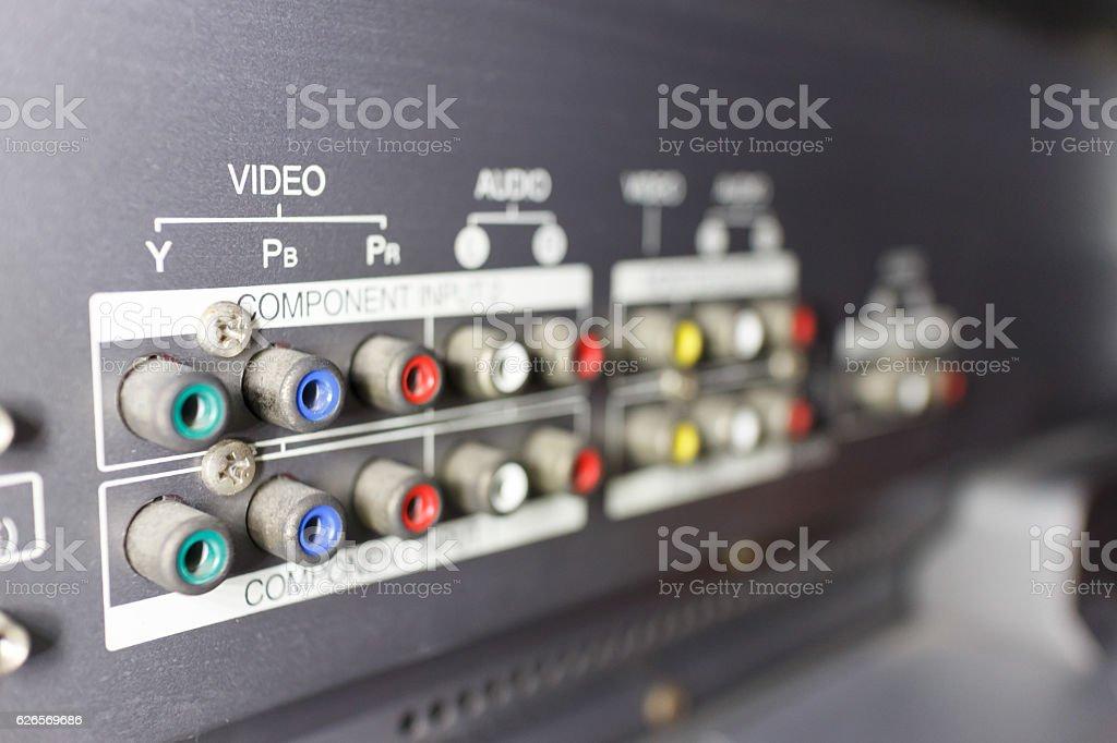 TV input stock photo