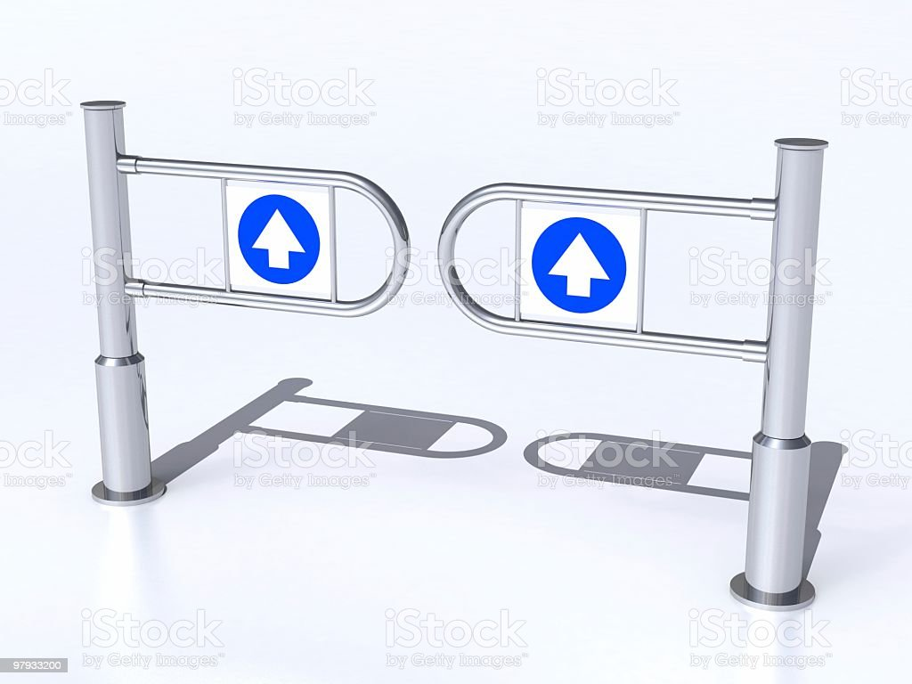 3D Input turngate royalty-free stock photo