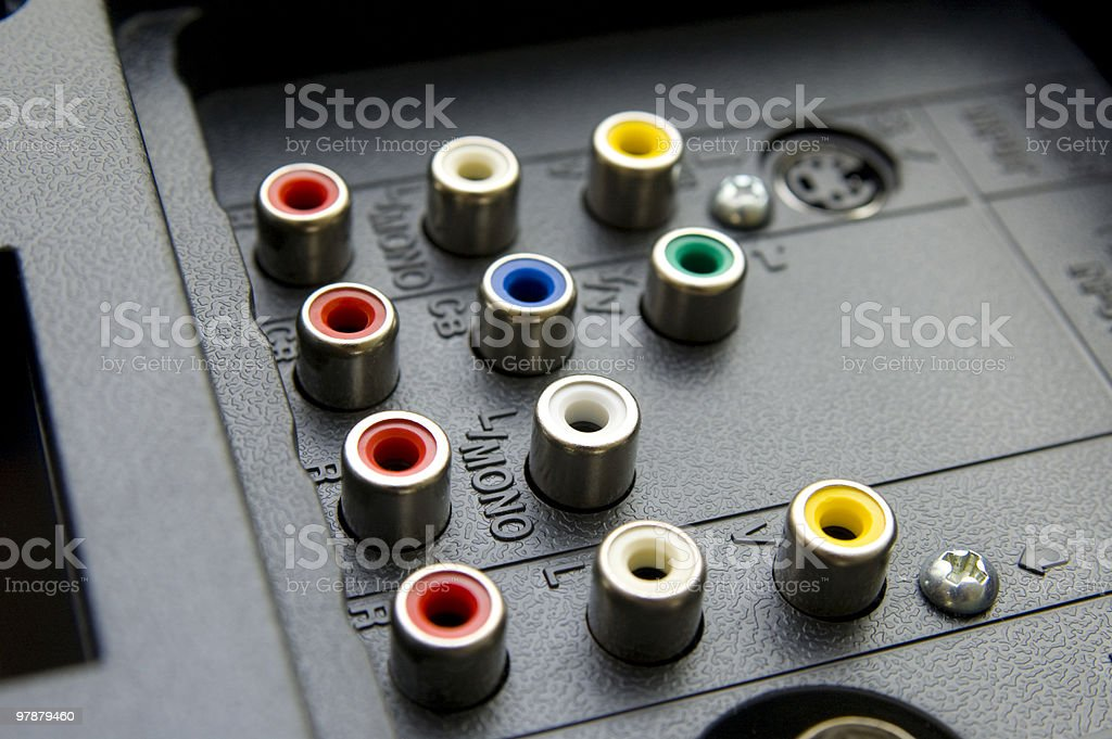 Input-output TV connectors royalty-free stock photo