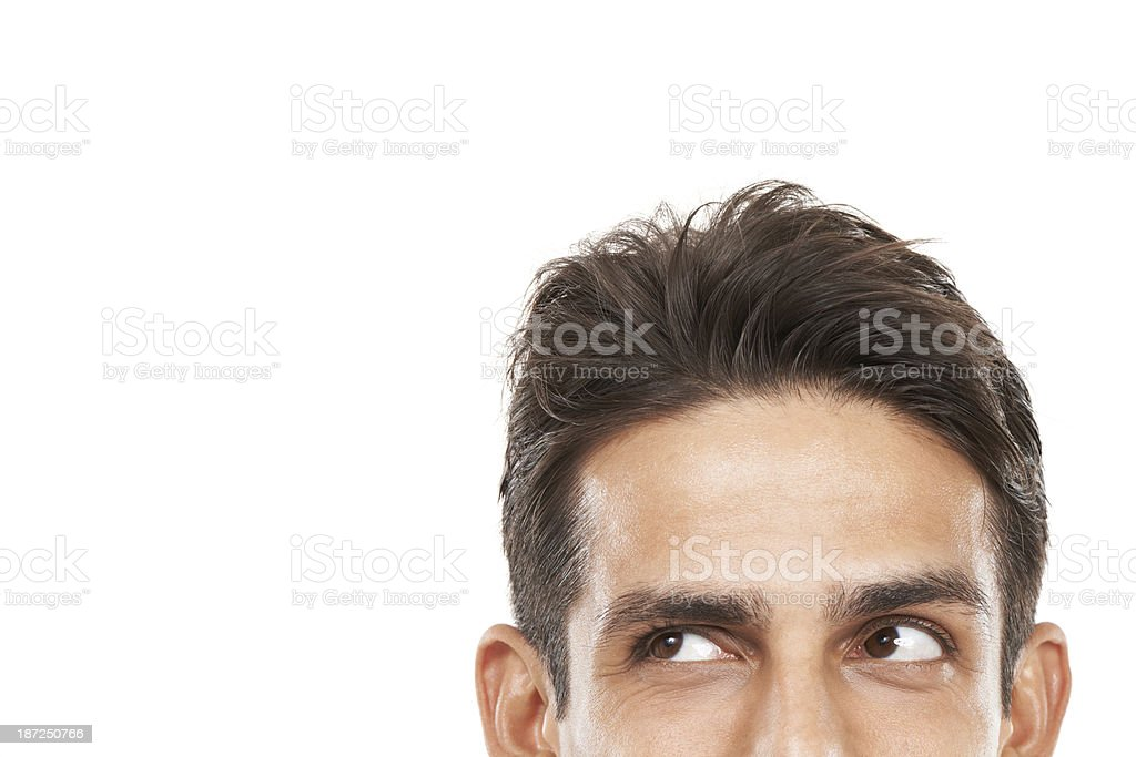 Inquisitive about your copyspace stock photo