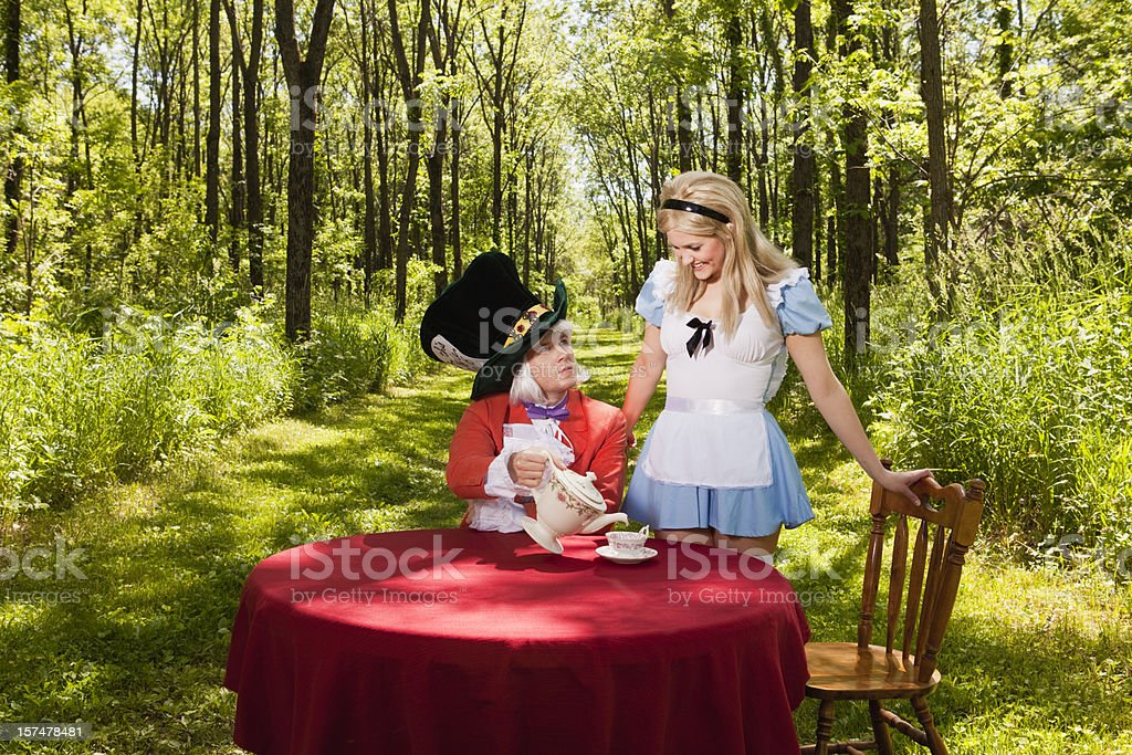 Inquisitive Alice royalty-free stock photo