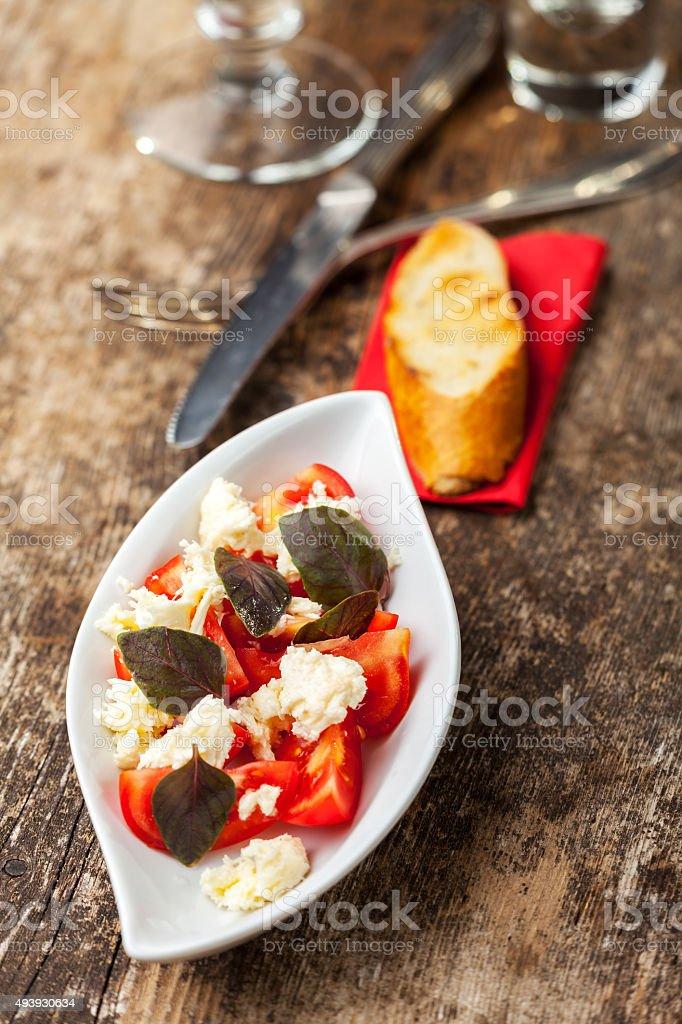 insalada caprese stock photo