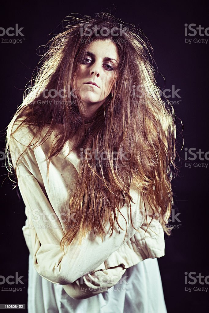 Insane Person in Straitjacket royalty-free stock photo