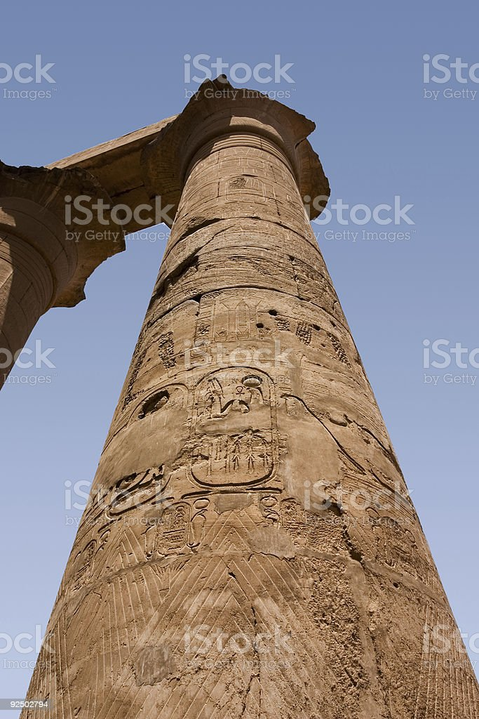 Inscribed Column, Luxor royalty-free stock photo