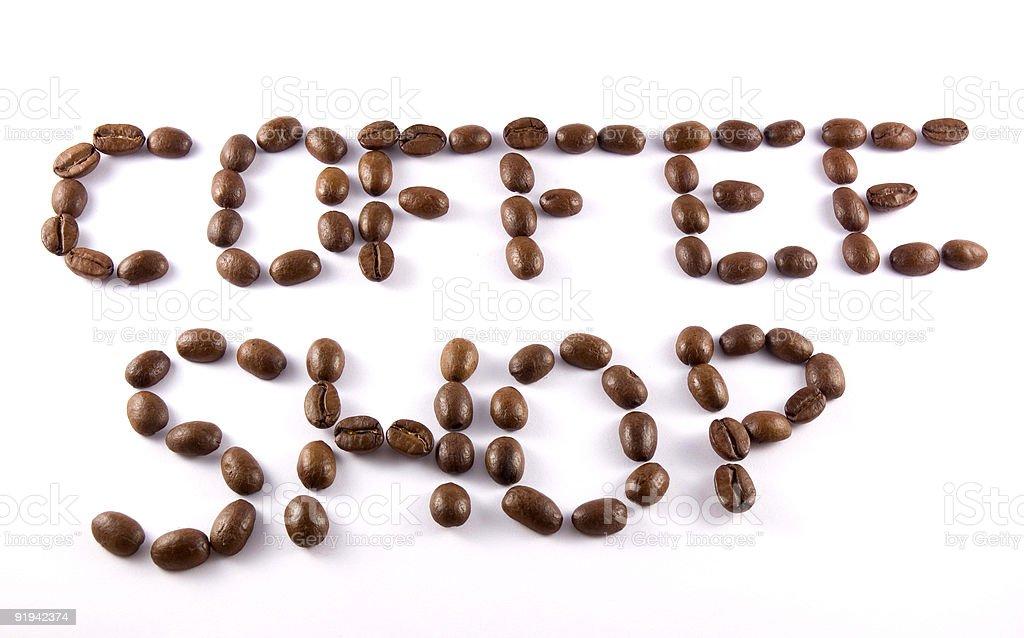 Inscription 'Coffee Shop' royalty-free stock photo