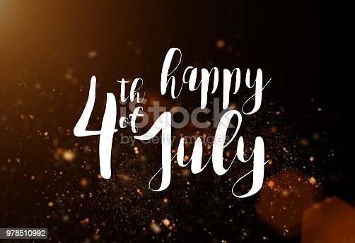 970809318 istock photo Inscription Happy 4th of July with USA flag 978510992