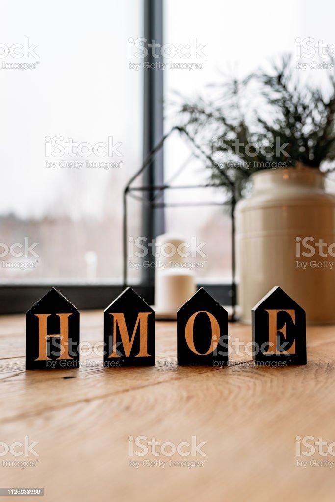 Inscription home in a new home – zdjęcie